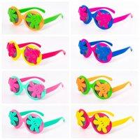 óculos escuros protetor uv venda por atacado-Crianças Palm Óculos De Sol de Verão Óculos De Sol Dos Desenhos Animados Quadro Googles Proteção UV Reflexivo Crianças Óculos De Sol 8 Cores CCA11832 200 pcs