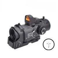 iluminado, mil, ponto, alcance venda por atacado-Tático DR 1x-4x Lupa Fixa Rifle Óptico Caça Scope 4x32 Red Iluminado Mil-Dot Scope Com Auto Red Dot