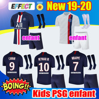 Wholesale windproof jersey resale online - Maillots de foot PSG kids kit Sets Socks Soccer Jersey New Maillot PSG Football Kits camisetas Paris Shirt MBAPPE Jerseys