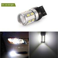 1156 luzes reversas led venda por atacado-Branco DC 12 V T20 7443 12SMD + Chip 5630 LED W21 / 5 W Luz de Freio Do Carro Lâmpada de Inversão AAA200