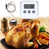 зондовые датчики оптовых-Цифровой Электронный Термометр Таймер Пищевая Мясо Духовка Измеритель Температуры с Дистанционным Зондом Кухня Электронный Термометр ZJ0886