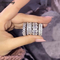 los mejores anillos de plata 925 al por mayor-17 Estilos Los amantes prometen anillo 5A Zircon cz 925 anillos de plata esterlina Wedding Band para mujeres hombres joyería del partido mejor regalo