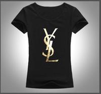 colares de algodão para mulheres venda por atacado-Verão 2019 mulheres moda T-shirt O colarinho manga curta casual simples de alta-grau de impressão 100% algodão absorvente respirável suor 9 cores