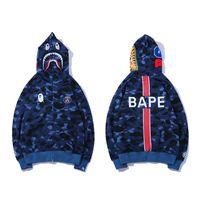 bape hoodie großhandel-BAPE Herren Designer Hoodies 19ss Herren Damen Designer Blue Camouflage Jacke Bape Herren High Quality Casual Sweatshirts Größe M-2XL