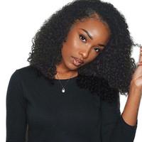 12 zoll spitze vorne perücken großhandel-Premier Lace Front Perücken brasilianische Remy Haar Perücken 4,5 Zoll tiefe Parting250% Dichte lockige menschliche Spitzeperücken