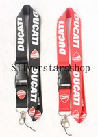 motorrad-logo-lanyard großhandel-Optiona Ducati Motorcycle Logo Keychain Hangseil Lanyard Umhängeband KeyRing ID Badge Key Pho
