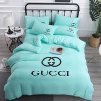 Wholesale cotton bedding set 3d for sale - Group buy Fashion Women Men Bedding Set CM Simple Letter Super Comfortable Washed Cotton Home Beding Cover Christmas Gift
