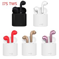 Wholesale lightning retail box resale online - I7S TWS Earphones Wireless Bluetooth Headphones Earbuds with Charging Box Mini Bluetooth Earbuds for iPhone X IOS Android with Retail