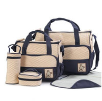 Wholesale high quality diapers resale online - 6 Colors Kit New Fashion High Quality Tote Baby Products Maternity Shoulder Durable Diaper Bags Nappy Mummy Bags