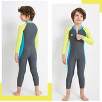 neopren-badeanzug ein stück großhandel-Kinder neuer Tauchanzug 2.5MM Neopren Tauchanzug Kinder warmer Badeanzug mit langen Ärmeln und UV-Schutz