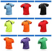 ingrosso magliette veloci secche-Man Outdoor Magliette Marathon Eventi Quick Dry T Shirt Motion Run spalla Insertion maniche corte Vestiti 15hcH1