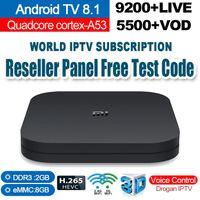 полоса частот оптовых-Xiao Mi TV Box S Android TV 8.1 Smart TV Box 2G + 8G Медиа-плеер Google Remote Youtube BT Двухдиапазонный WIFI IPTV Подписка
