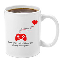 lustige liebesgeschenke großhandel-Ich gelobe, dich zu lieben Premium 11oz Kaffeetasse Geschenk - perfekte lustige Gamer Geschenke, Neuheit Computer Nerd Geschenke, Videospiel-Konsole Liebhaber,