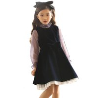 Wholesale baby girl solid tee for sale - Group buy Girls Sets Shirt Dress Girl Clothing Set Autumn Winter Tops Tees Dress Children School Clothes YearsMX190916