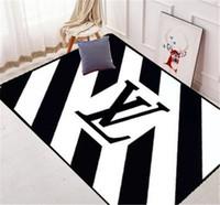 ingrosso tappeti bianchi di tappeti-Tappeto Zebra di fascia alta di zerbino di moda di marca di moda di tappeto bianco nero in moquette di Europa e America