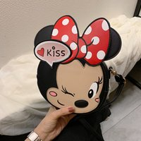 Wholesale travel bags for children resale online - Cartoon Mouse PU Leather Crossbody Bags for Women Mini Child Boy Girl Shoulder Messenger Bag with Lady Travel Totes