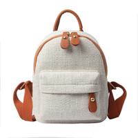 mochila casual de lona coreana al por mayor-Miyahouse estilo simple lienzo mujer mochila mochilas escolares vintage para adolescentes niñas estilo coreano mochila femenina
