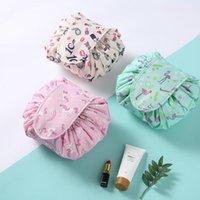 reisetaschen für frauen großhandel-Frauen Travel Magic Pouch Kordelzug Kosmetiktasche Organizer Lazy Flamingo bilden Fällen Beauty Toiletry Kit Werkzeuge Waschen Lagerung