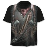 3d üst tabanca toptan satış-2019 Yeni erkek T gömlek 3D Cloudstyle Kendi Tasarım Silah Savaşçı Tshirt Baskı Bıçak Harajuku Üstleri Tee Kısa Kollu Spor t-shirt