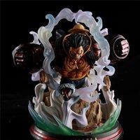 ingrosso un pezzo pistole-POP Max Anime giapponese One Piece Monkey D Luffy Gear Quarta scimmia King Gun Statue Figure