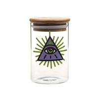 conteneurs sous vide achat en gros de-Yimi Glass 420 Récipient sous vide à stockage d'herbe en verre avec verre transparent
