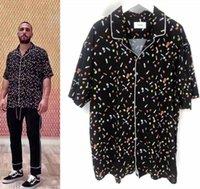 bouton t shirts achat en gros de-19SS RHUDE Pilule T-shirt Hommes Femmes 1a: 1 Meilleure qualité RHUDE Top Tees Mode Casual Hip-Hop T-shirt RHUDE