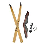 avcılık longbow toptan satış-Okçuluk Takedown Olimpik Yay Longbow Sağ El 25-50 lbs Amerikan Avcılık Yay Avcılık Çekim Okçuluk Aksesuarları
