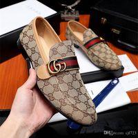 zapatos de trabajo casual de negocios hombres al por mayor-19ss Nueva Moda de Cuero Genuino Hombres Zapatos de Negocios Oxfords Hombres Pisos Casual Hombres Zapatos de Trabajo Mocasín Tamaño 38-44