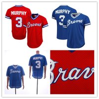 fbb970bd1 Men s Braves Dale Murphy Jersey Mitchell   Ness Red Royal 1980 Authentic  Cooperstown Collection Mesh Batting Practice Baseball Jerseys