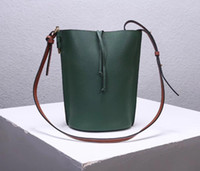 Wholesale high end drawstrings for sale - Group buy Lady hot bucket bag high end custom luxury designer cross body bag fashion casual style adjustable leather shoulder strap