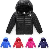 kızlar ceket aşağı çocuklar ceket toptan satış-Ücretsiz nakliye Cocuk Giyim Boy ve Kız Kış 3-12 yaş Kapşonlu Coat Çocuk Giyim oğlan Aşağı Ceket çocuk ceketleri Isınma