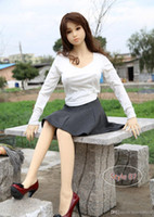 Wholesale model real doll sex for sale - Group buy model af15 real silicone sex dolls cm tall skeleton adult japanese love toy vagina lifelike pussy realistic sexy doll for men big breast