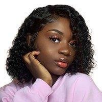 doğal gevşek kıvırcık saç uzantıları toptan satış-Kısa Bob İnsan Kıvırcık Dalga Doğal Renk Afro Kinky Kıvırcık Brezilyalı Su Dalga Demetleri 4 adet Gevşek Dalga Saç Uzantıları