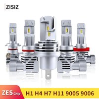 Wholesale 55w led headlight bulbs resale online - Mini LED H4 H7 H11 HB4 HB3 H8 H9 ZES Chip Bulb Canbus Car Headlight W LM K Led Light Fog Lamp V automotivo