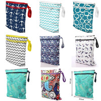 Wholesale cloth baby bags resale online - Storage Bag Baby Protable Nappy Reusable Washable Wet Dry Cloth Zipper Waterproof Diaper Bag Baby Nappy
