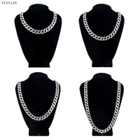 Wholesale silver multiple chain necklace for sale - Group buy Multiple Size Bright Silver Iced Out Paved Rhinestones CZ Rapper Necklace For man Fashion cool Hip Hop Necklace Jewelry Gift