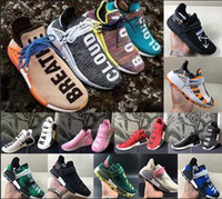 Wholesale human race lighting shoes resale online - New style Pharrell Williams NMD Human Race Designer Sneakers BBC Solar Pack Nerd Heart Mind Mens Womens platform Running Shoes Size