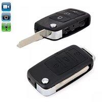 tragbares auto video großhandel-Auto KeyChain Kamera Mini Pocket Kamera Tragbare Micro Autoschlüssel MINI DV Sicherheit DVR Digital Voice Video Recorder Unterstützung TF-Karte