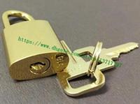 Wholesale shining handbags for sale - Group buy Top Grade Shine Gold tone Metal Alloy Stainless Lock Keys Set For Handbag Duffle Bag Luggage Etc Free E package shipping