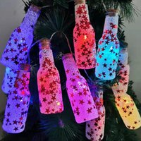 Wholesale plastic wishing bottles for sale - Group buy Beautiful LED Lights Christmas Decoration Wishing Bottle Christmas Tree Decoration Plastic Foam Lighted Wishing Bottle