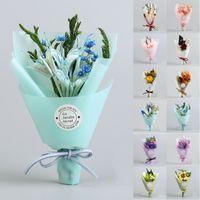 ingrosso fiori secchi per la casa-Regali di scatola di fiori secchi artificiali Fiori secchi Festival Gift Box Bouquet di fiori artificiali Wedding Party Home Decor