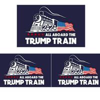 Wholesale train stickers for sale - Fashion Trump Car sticker Donald Iocomotive Stickers Train Window Sticker Home Living Room Decor Wall Stickers TTA809