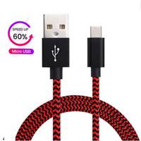 cabos de carregador trançado venda por atacado-Tipo C cabo Micro USB USB C rápidos Cabos Carregador Trançado rápida 3.0 carregamento rápido cabo para Samsung Nota 10 s10 mais pro p30 Huawei