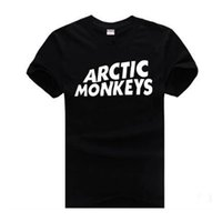 Wholesale arctic monkeys tee for sale - Group buy ARCTIC MONKEYS Mens Tshirts Short Sleeved Tops Teenager Casual Clothing Summer Tees