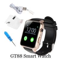ingrosso ossigeno elettronico-Smartwatch Supporto GT88 intelligente orologio del monitor Bluetooth SIM di frequenza cardiaca Smartwatches impermeabili per IOS Cellulari Android 770009