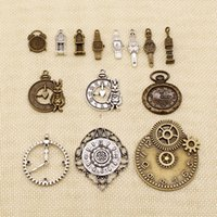 Wholesale clock charms for sale - Group buy 50 Pieces Diy Accessories For Jewelry Clock Alarm Bell Tower Clock Watch HJ114
