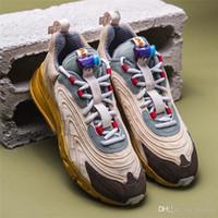 chaussures de basket kd violet achat en gros de-Travis Scott X 270 React Chaussures de course authentique Air CT2864-200 Femmes Hommes Chaussures Designer 270S Formateurs Maxs Luxury Zapatos