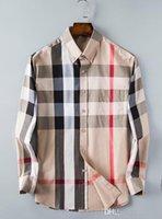 camisa de lunares de los hombres al por mayor-Venta al por mayor y al por menor vestido de los hombres de moda de moda de lujo diseñador casual vestido polka dot camisa culturismo camisa de negocios 002