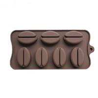 coffee chocolates venda por atacado-Molde do chocolate da forma do feijão de café