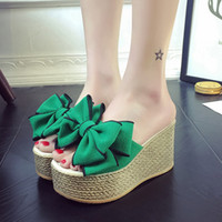 35d98e369 Wholesale butterfly flip flops online - Women Slippers Fashion Pee Toe  Summer Shoes Butterfly Knot High